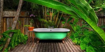 Bathroom, image courtesy of GoldenEye, Jamaica
