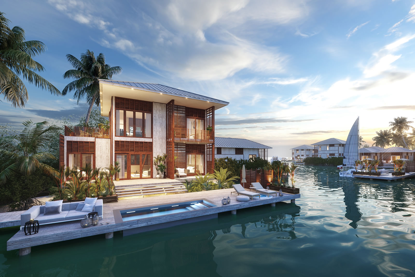 3 Bedroom Luxury Lagoon Homes for Sale, Placencia, Belize - 7th Heaven  Properties