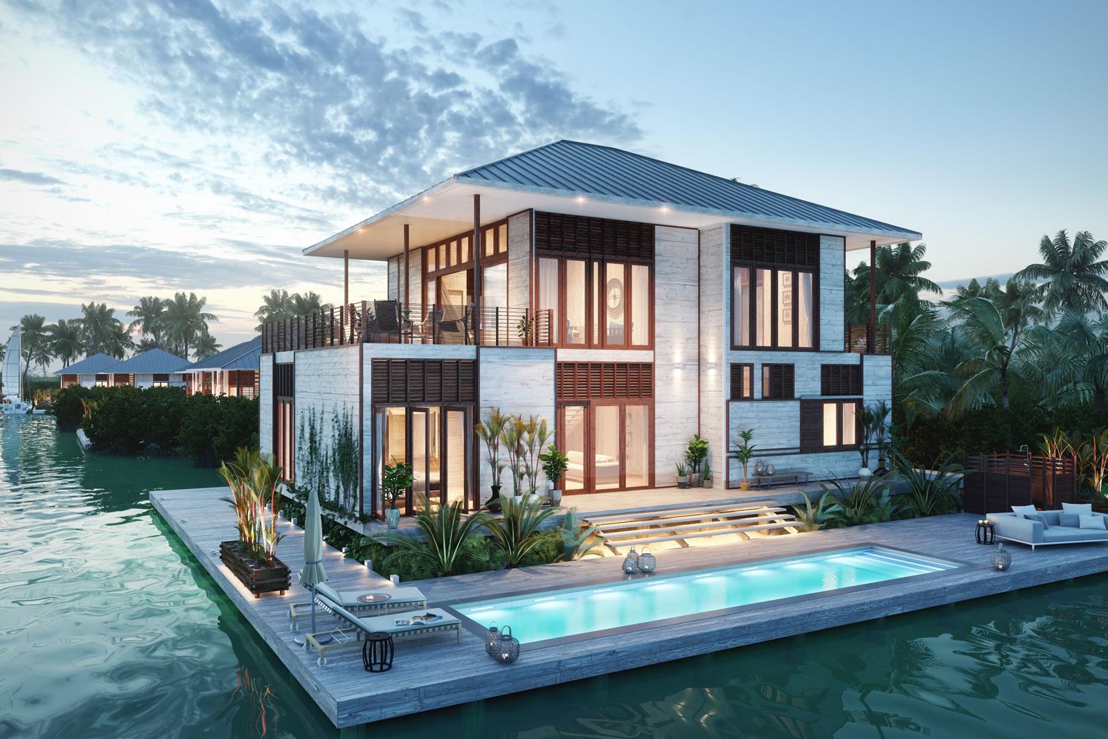 5 Bedroom Luxury Lagoon Villas For Sale Placencia Belize