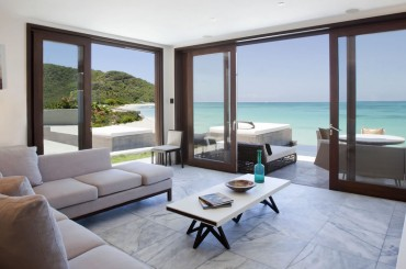 Beachfront apartments for sale, Antigua - living room