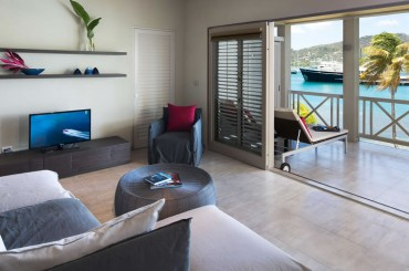 Beachfront apartments for sale, Falmouth Harbour, Antigua - living room