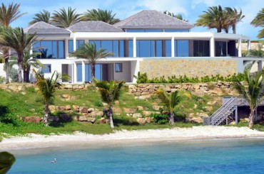 Beachfront home for sale, Antigua - stairs to beach