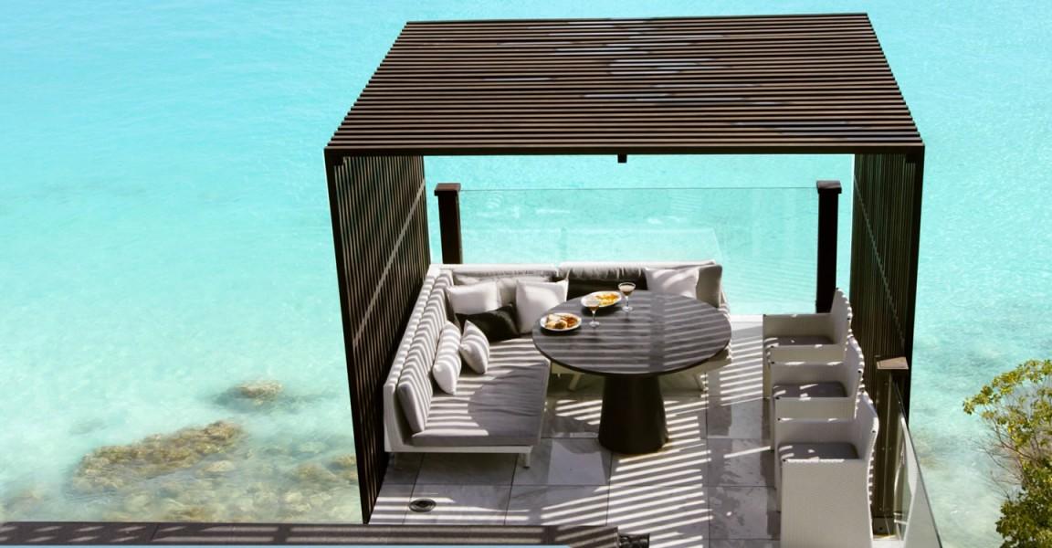 Beachfront home for sale, Antigua - gazebo & sea