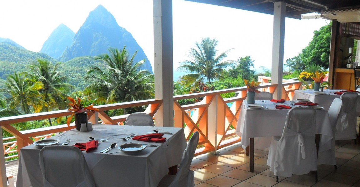 Boutique hotel for sale, Soufriere, St Lucia - restaurant