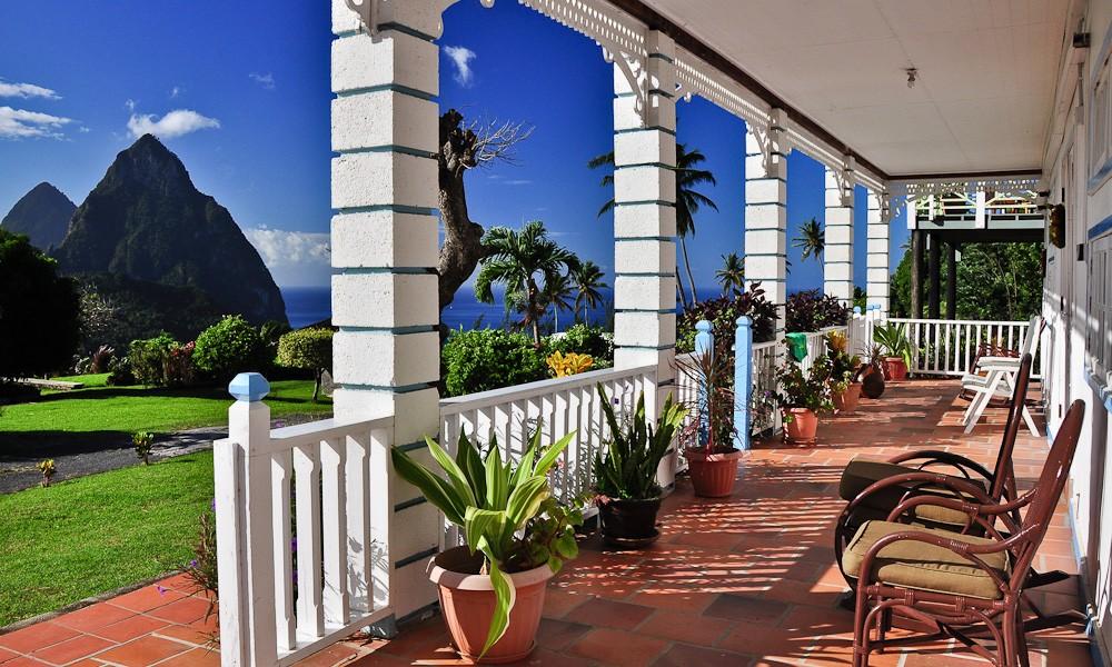 Boutique hotel for sale, Soufriere, St Lucia - terrace