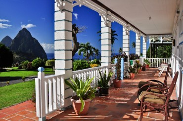 Boutique hotel for sale, Soufriere, St Lucia - terrace