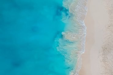 Grace Bay Beach, Providenciales, Turks & Caicos Islands - Birds Eye View