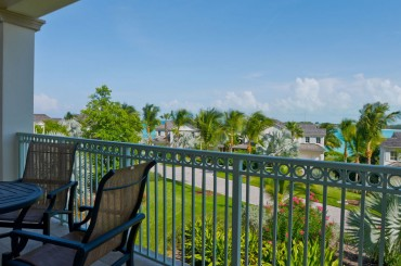 Luxury condos for sale, Great Exuma, Bahamas - terrace & view