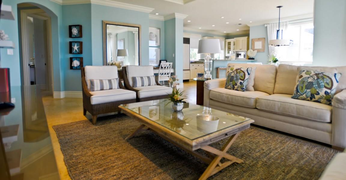 Luxury condos for sale, Great Exuma, Bahamas - living room