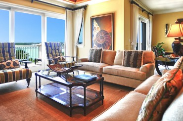 Luxury condos for sale, Great Exuma, Bahamas - living room
