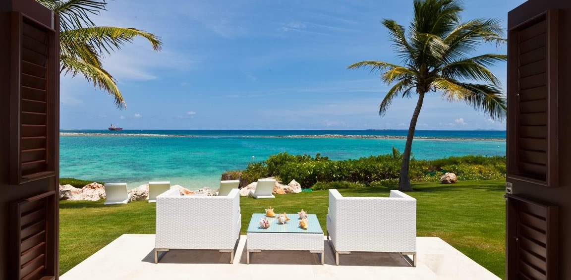 Ultra-luxury beachfront home for sale, Little Harbour, Anguilla - view