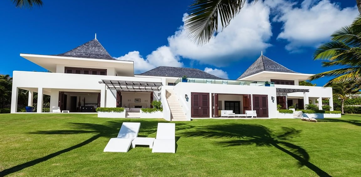 Ultra-luxury beachfront home for sale, Little Harbour, Anguilla - garden