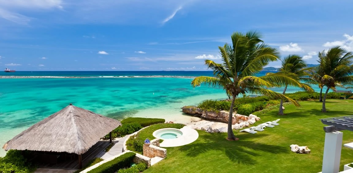 Ultra-luxury beachfront home for sale, Little Harbour, Anguilla - sea view