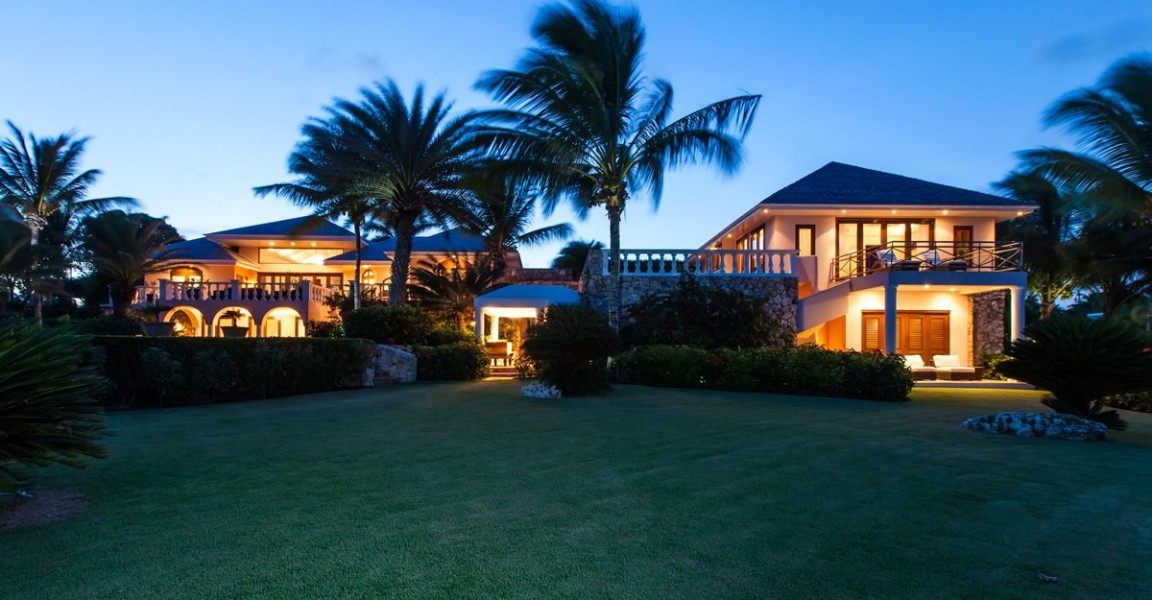 Ultra-luxury beachfront home for sale, Little Harbour, Anguilla - at night