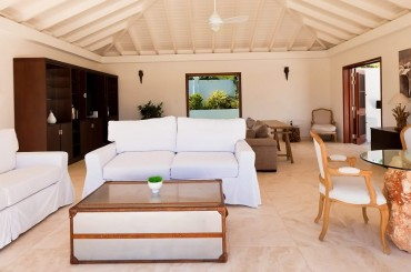 Ultra-luxury beachfront home for sale, Little Harbour, Anguilla - living room