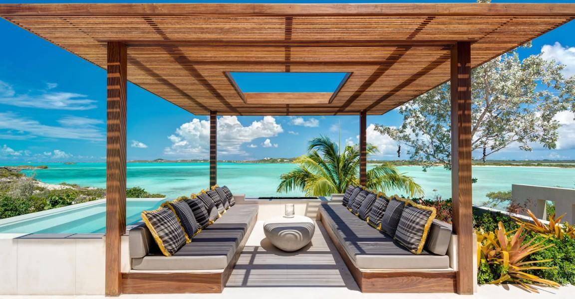 Ultra-luxury beachfront home for sale, Providenciales , Turks & Caicos - gazebo