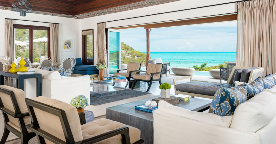 Ultra-luxury beachfront home for sale, Providenciales , Turks & Caicos - living room