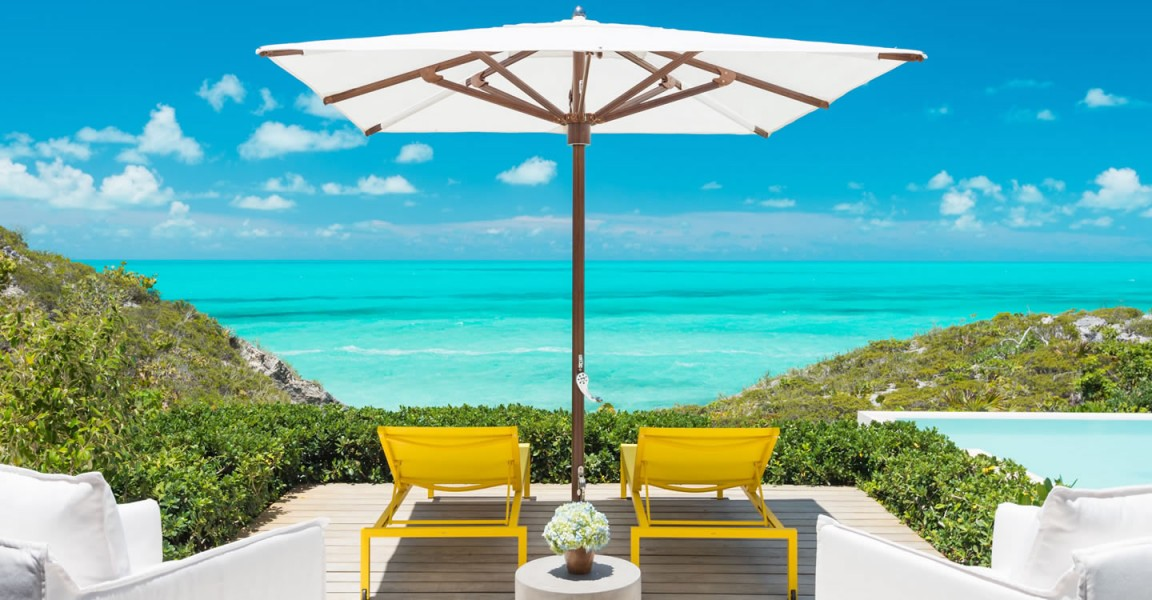 Ultra-luxury beachfront home for sale, Providenciales , Turks & Caicos - terrace & sea view