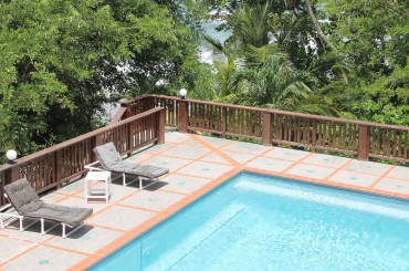 3 bedroom beachfront home for sale in Bacolet, Tobago - pool