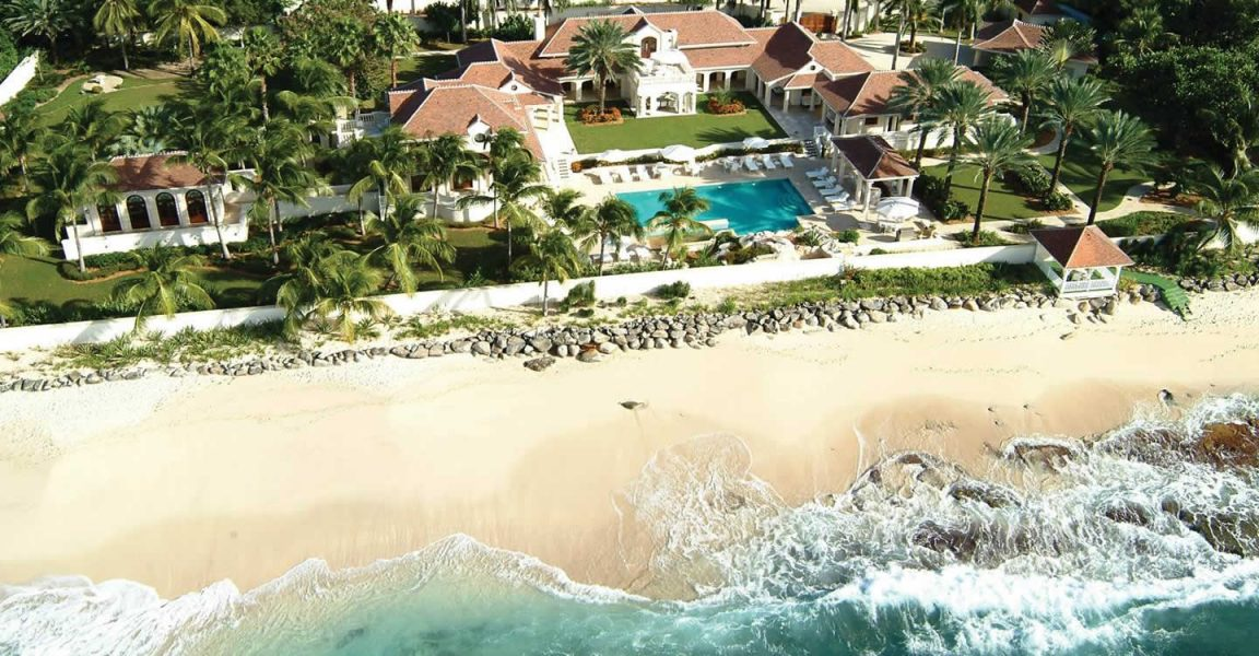 Luxury beachfront Caribbean mansion for sale in Plum Bay, St Martin