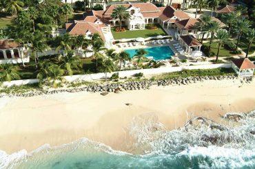 Luxury beachfront Caribbean mansion for sale in Plum Bay, St Martin