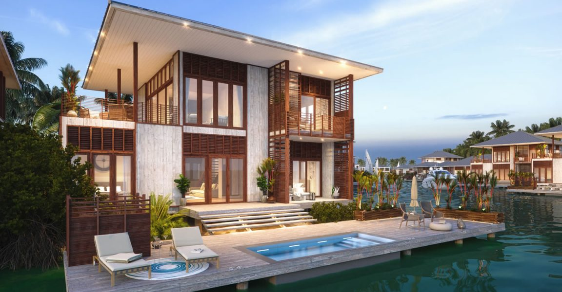 4 bedroom luxury lagoon houses for sale placencia belize 7th heaven properties. Black Bedroom Furniture Sets. Home Design Ideas
