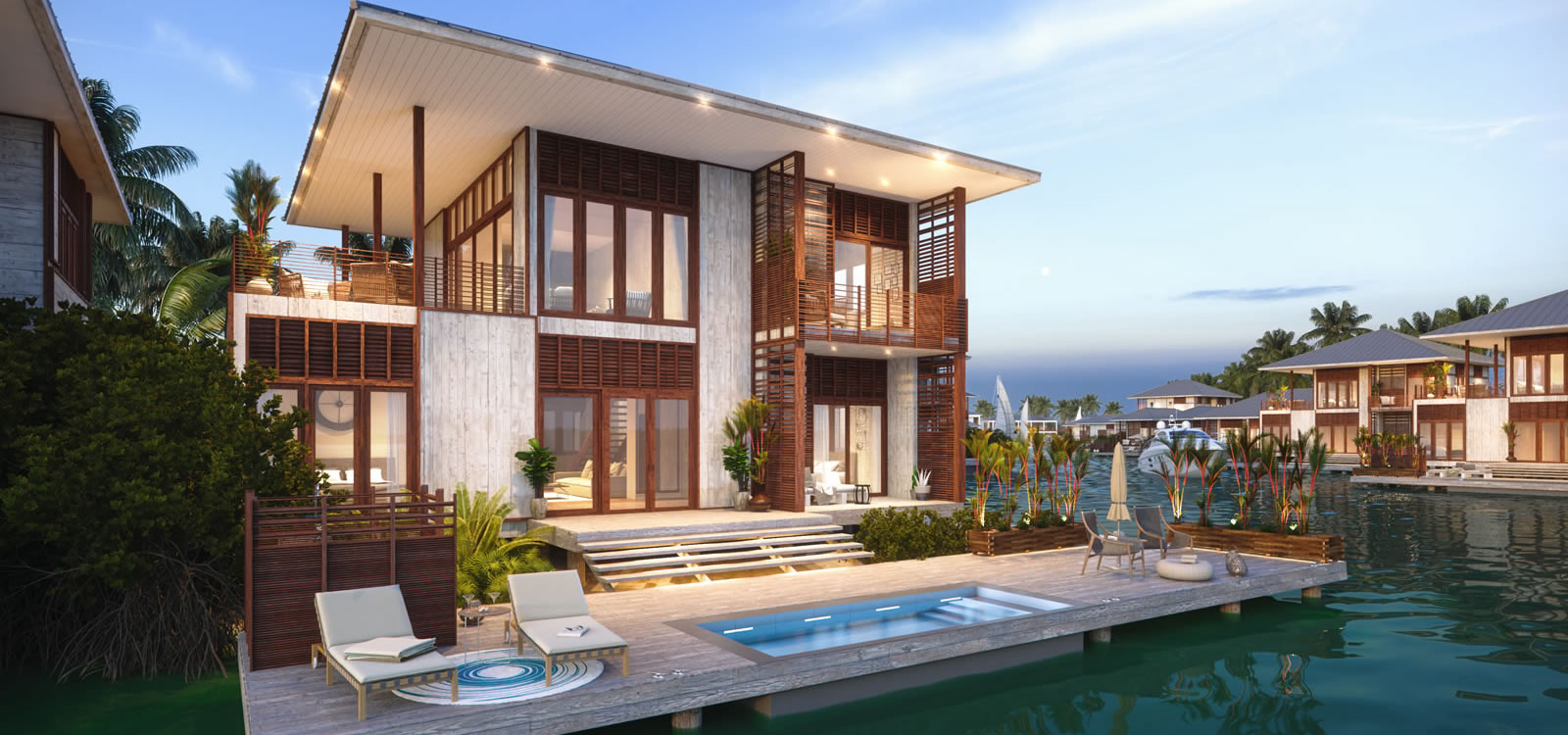 4 Bedroom Luxury Lagoon Houses For Sale Placencia Belize