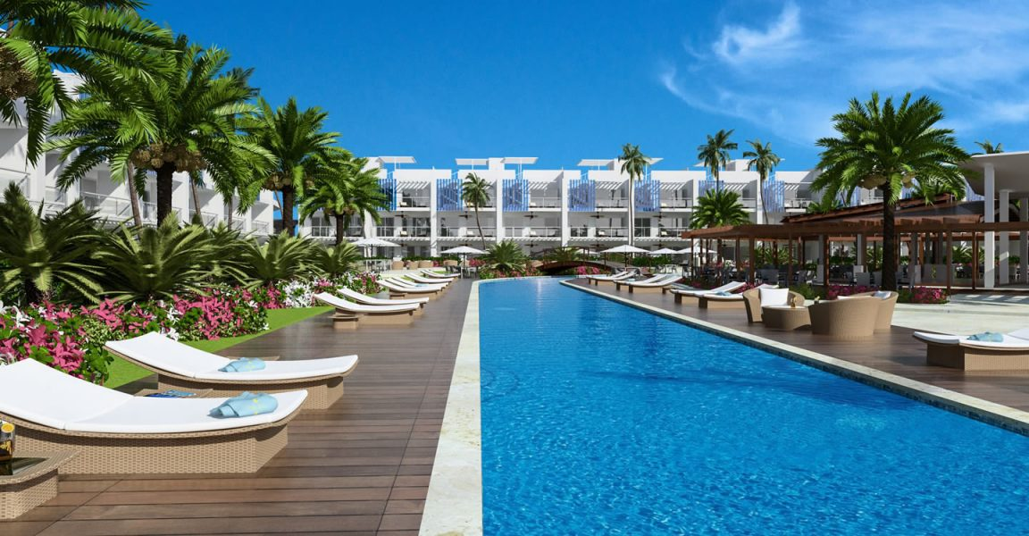 Condos for sale at Hard Rock Golf Club at Cana Bay in Punta Cana, Dominican Republic - pool
