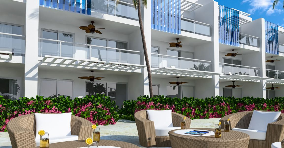 Condos for sale at Hard Rock Golf Club at Cana Bay in Punta Cana, Dominican Republic - building exterior