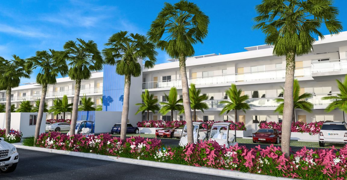 Condos for sale at Hard Rock Golf Club at Cana Bay in Punta Cana, Dominican Republic - exterior