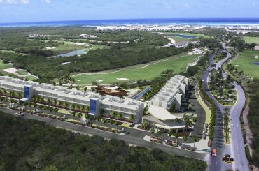 Condos for sale at Hard Rock Golf Club at Cana Bay in Punta Cana, Dominican Republic - aerial