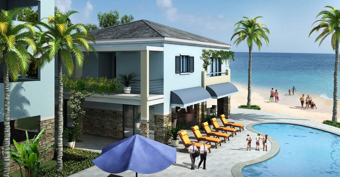 2 bedroom luxury condo for sale runaway beach antigua for Luxury beachfront property for sale