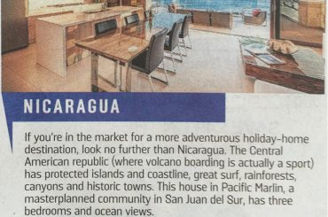 Apartment for sale in Pacific Marlin Nicaragua, featured in The Sunday Times