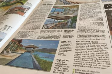 BVI real estate featured in the London Evening Standard, 26 October 2016
