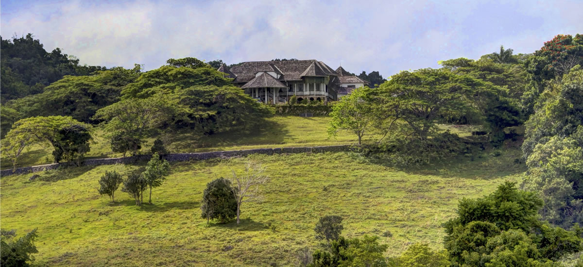 Historic estate for sale in Ocho Rios, Jamaica built on the foundations of a 16th Century Spanish fort