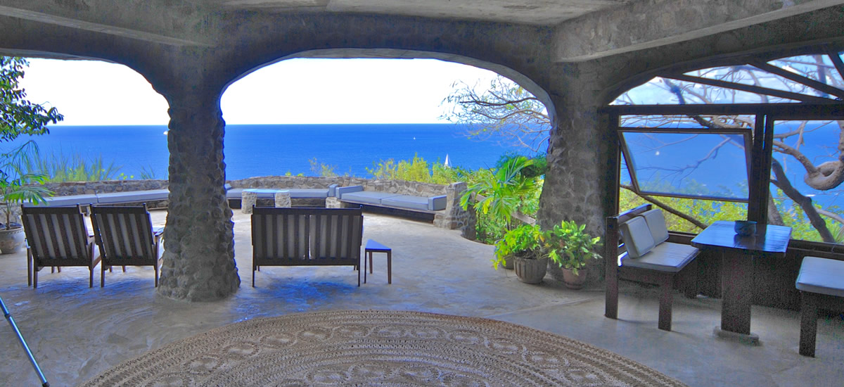 Iconic historic home for sale in Moonhole in Bequia in the Grenadines dating from the 1960's