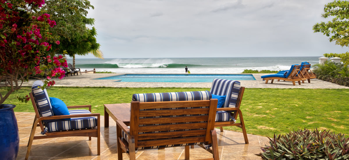 Beachfront home for sale on Playa Colorado, one of Nicaragua's best surf vacation spots