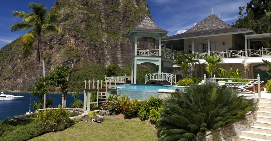 5 bedroom luxury home for sale beau estate st lucia for Luxury caribbean homes for sale