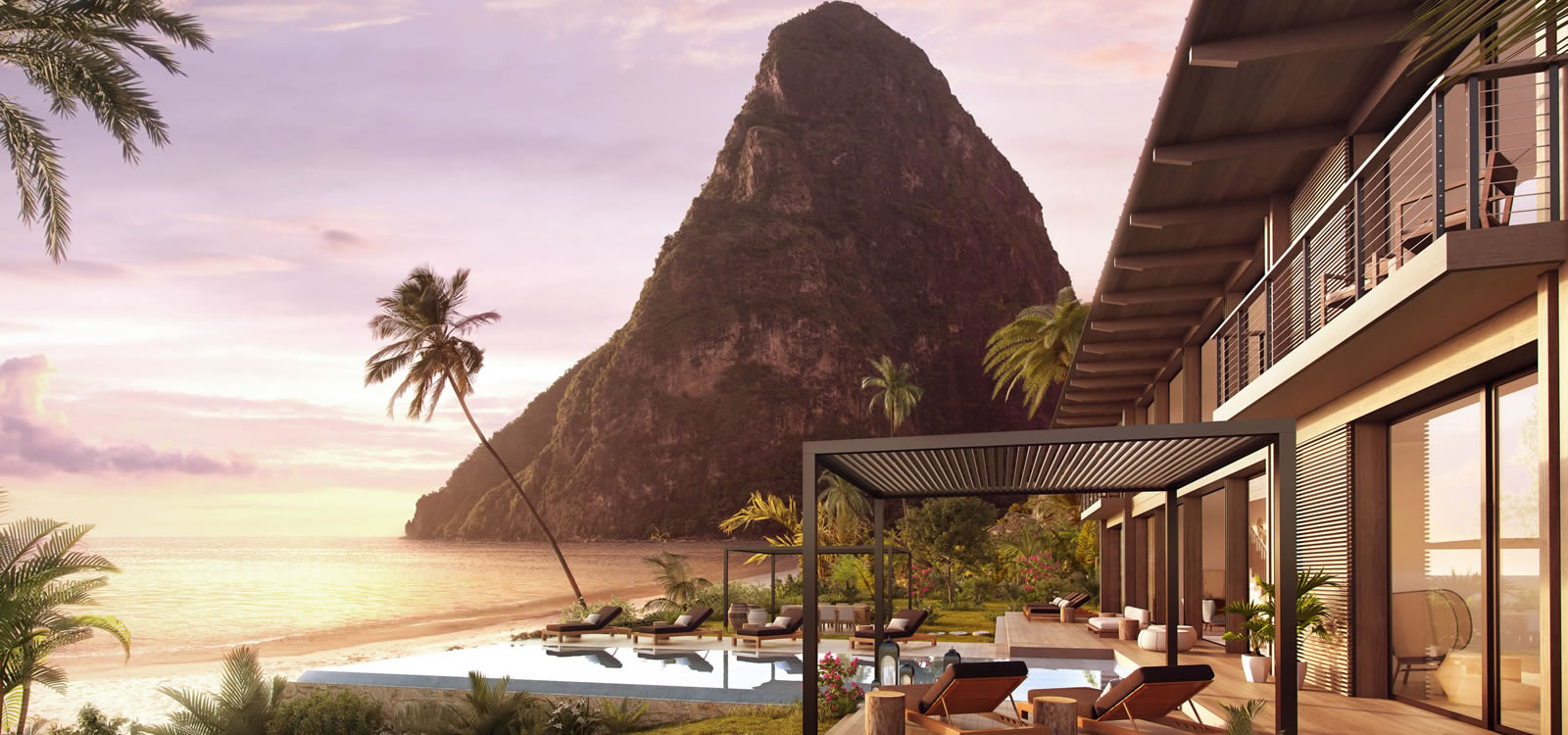 Charming 5 Bedroom Ultra Luxury Beachfront Residence For Sale, Val Des Pitons, St  Lucia