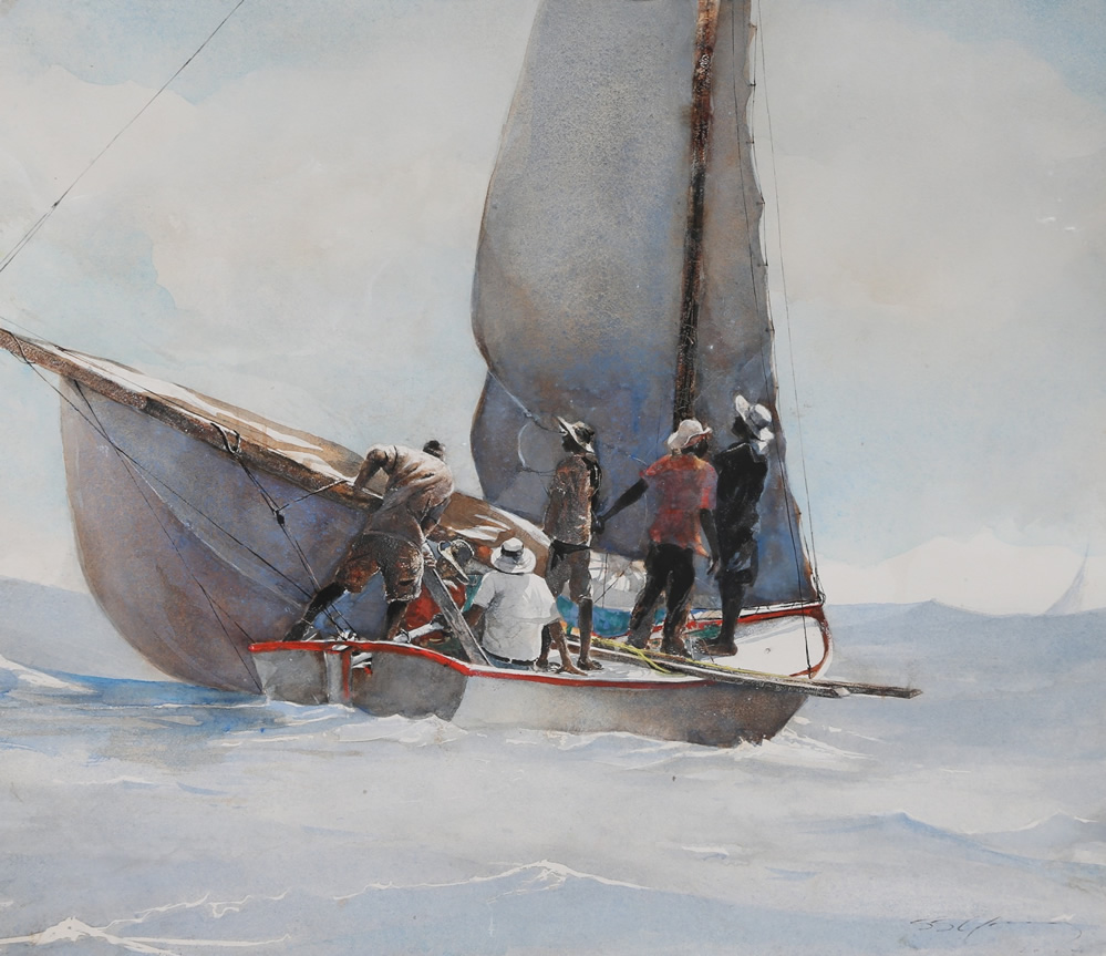 """Hoisting the Jib"" - The Regatta Series, Stephen Scott Young"