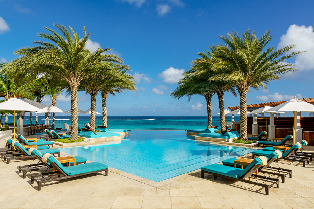 The oceanfront infinity pool at Zemi Beach House, Anguilla