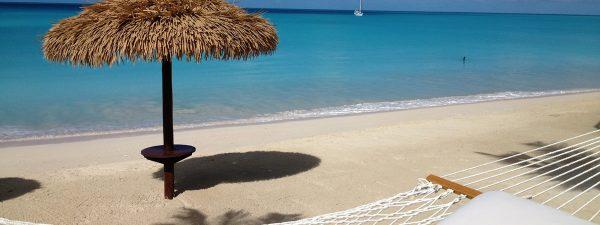One of Barbuda's beautiful beaches