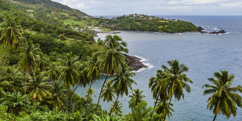 Owia Bay, St Vincent in St Vincent and the Grenadines