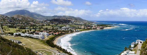 Beaches on the east coast of St Kitts & Nevis