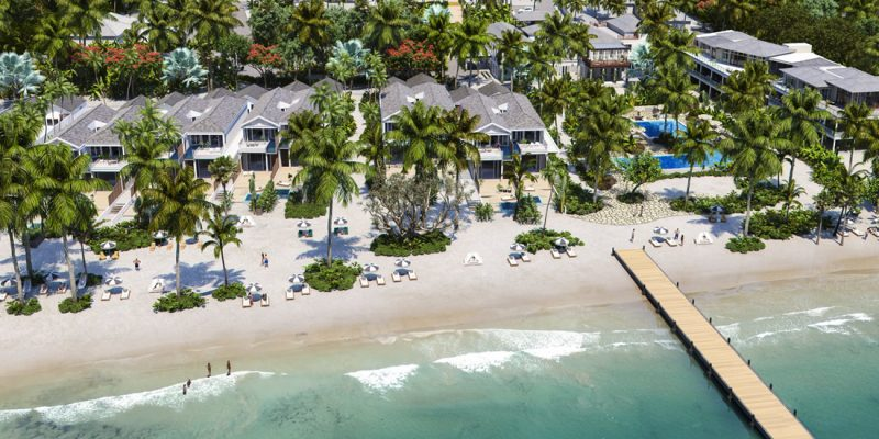 Lagoon front and beachfront homes for sale in Placencia, Belize