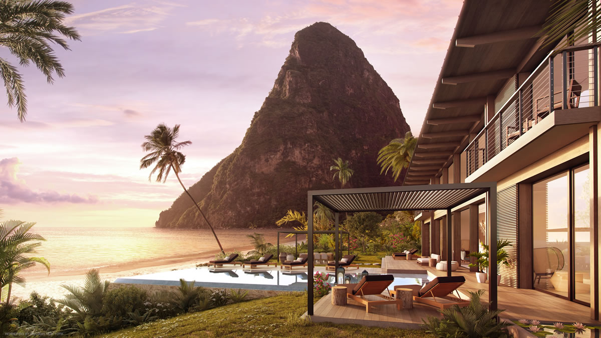 Luxury beachfront residences for sale in St Lucia