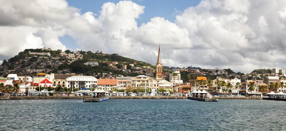 Fort de France waterfront, Martinique