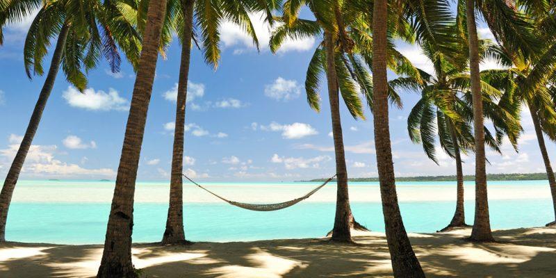 Hammock on the beach in Jamaica