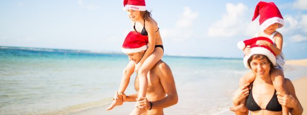 Christmas on the beach in the Caribbean