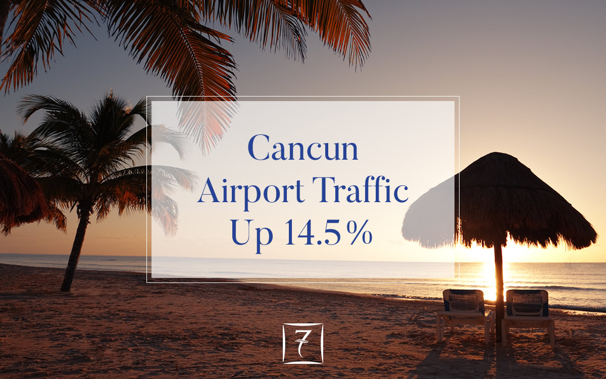 Cancun Airport traffic up 14.5% in March 2018